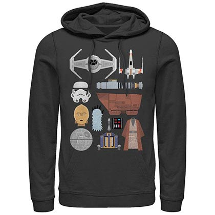 Star Wars The Essentials Black Lightweight Hoodie