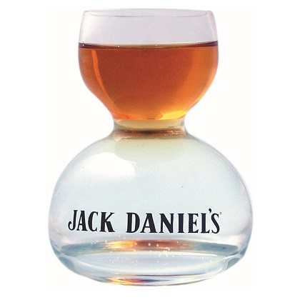 Jack Daniels Double Bubble Shot Glass