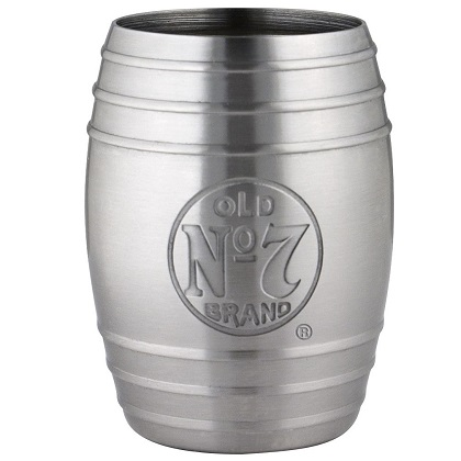 Jack Daniels Old No. 7 Stainless Steel Barrel Shot Glass