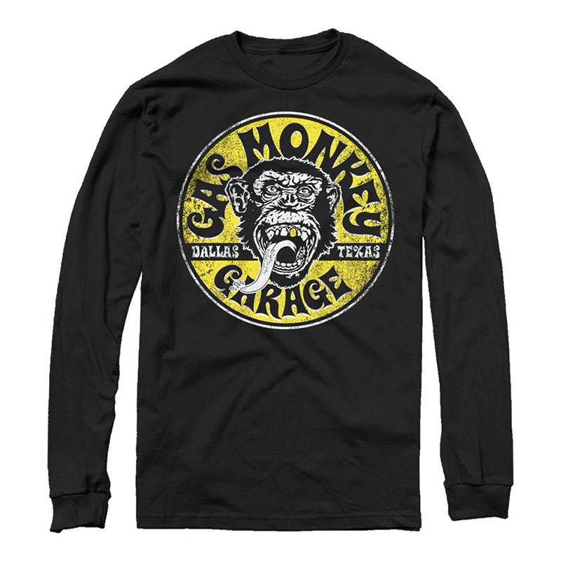 Gas Monkey Garage Equipped Long Sleeve Black Long Sleeve T-Shirt