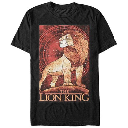 Disney Lion King King Splatter Black T-Shirt