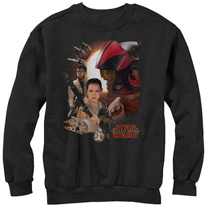 Star Wars Episode 7 New Alliances Black Long Sleeve T-Shirt
