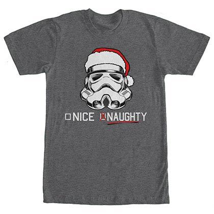 Star Wars Trooper List Gray T-Shirt