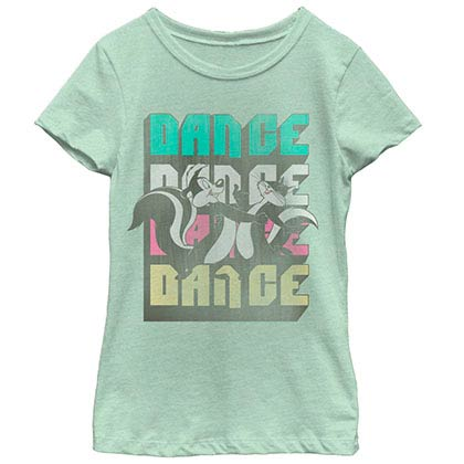 Looney Tunes Smelly Dance Green Youth Girls T-Shirt