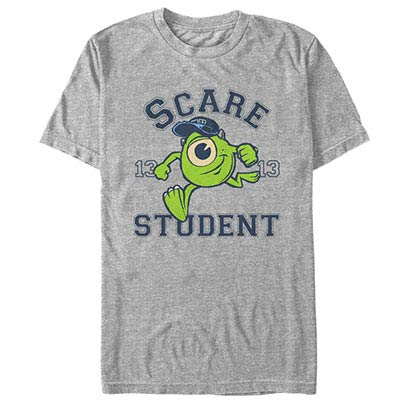 Disney Pixar Monsters Inc University Scare Student Gray T-Shirt