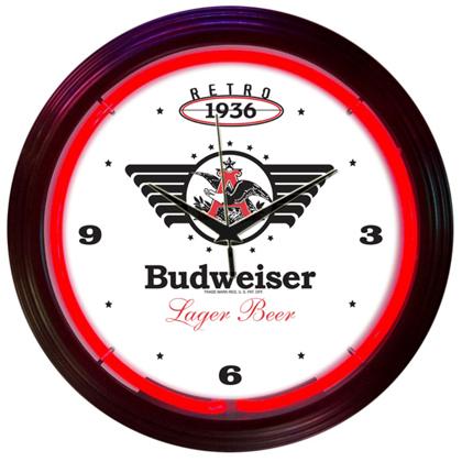 Budweiser 1936 Retro Neon Clock