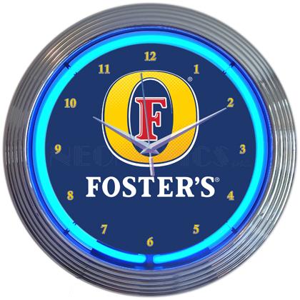 Fosters Neon Clock