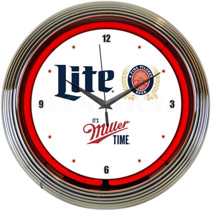 Miller Lite Neon Clock