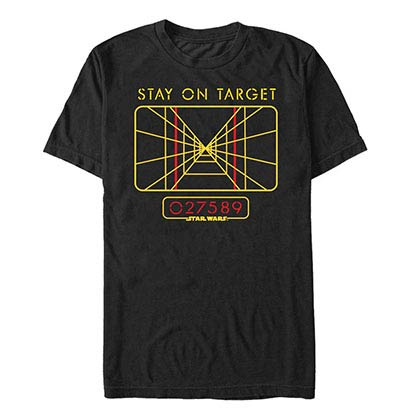Star Wars Stay On Black T-Shirt