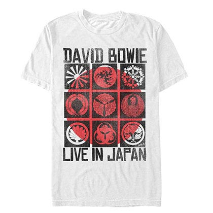 David Bowie Bowie Japan White T-Shirt