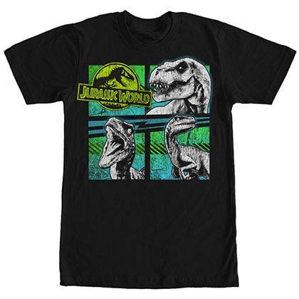 Jurassic World Trouble Squad Black T-Shirt