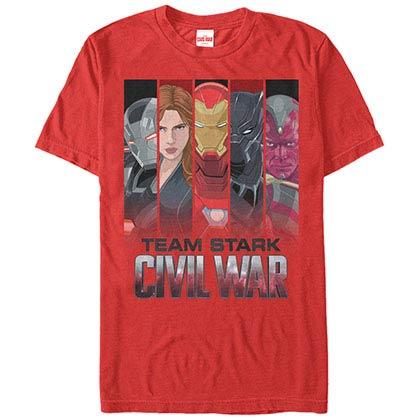 Iron Man Team Stark Red Mens T-Shirt