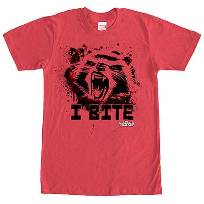 Guardians Of The Galaxy Furry Bite Red Mens T-Shirt