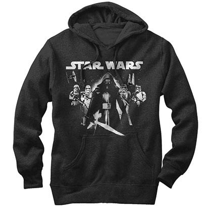 Star Wars Episode 7 Close Ranged Black Lightweight Hoodie