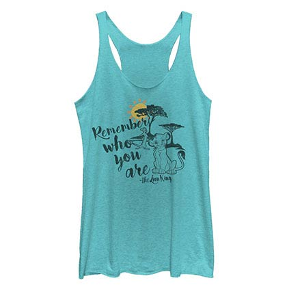 Disney Lion King Never Forget Blue Juniors Racerback Tank Top