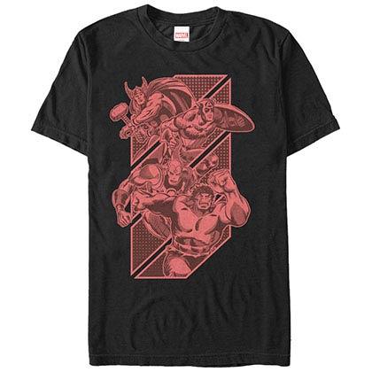 Avengers Tonal Avengers Black Mens T-Shirt