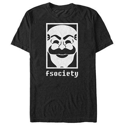 Mr. Robot F Society Black T-Shirt