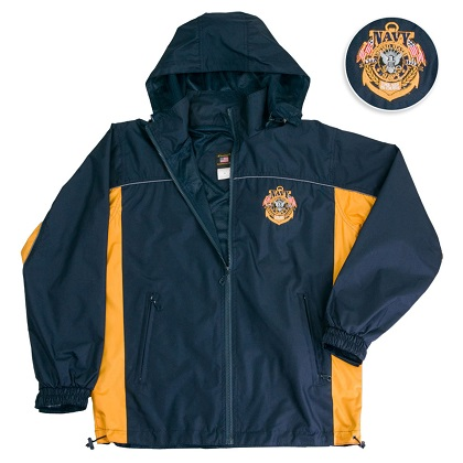 Navy Windbreaker Jacket