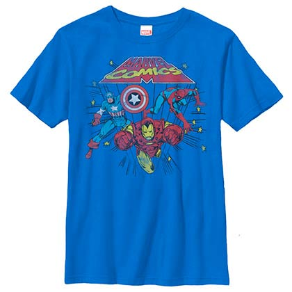 Avengers Battle Zone Blue Youth T-Shirt