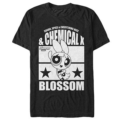 Power Puff Girls Chemical X Blossom Black T-Shirt