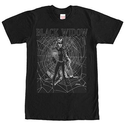Avengers Widow Intense Black Mens T-Shirt