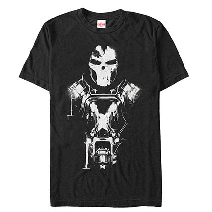 Captain America: Civil War Crossbones Paint Black Mens T-Shirt