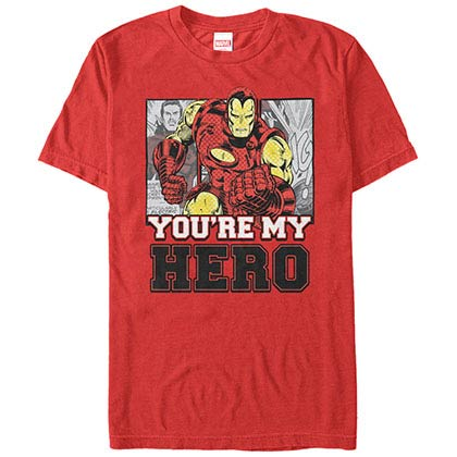Iron Man Iron Hero Red Mens T-Shirt