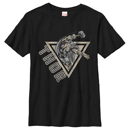 Thor Power Black Youth T-Shirt