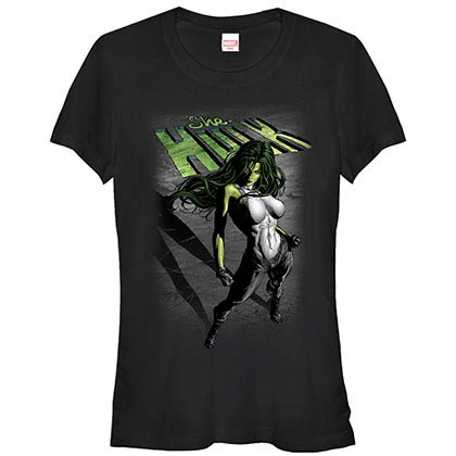 Incredible Hulk Incredible She Black Juniors T-Shirt