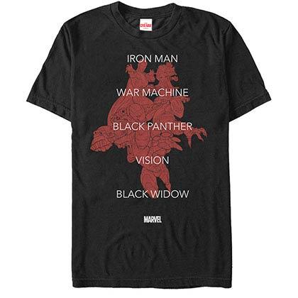 Iron ManTeam Tonal Black Mens T-Shirt