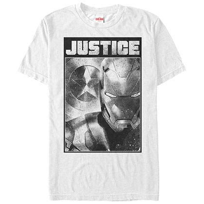 Iron Man Spray Man White Mens T-Shirt