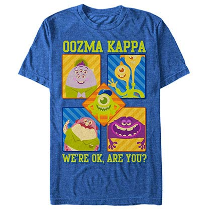 Disney Pixar Monsters Inc University Oozma Kappa Blue T-Shirt