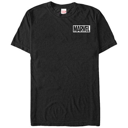 Marvel Teams Pocket Logo Black Mens T-Shirt