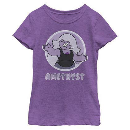 Steven Universe Amethyst Circle Purple Youth Girls T-Shirt