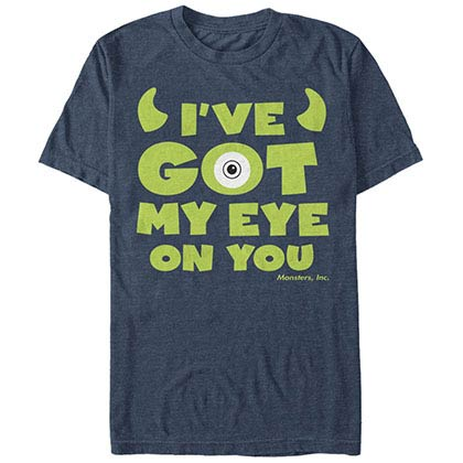 Disney Pixar Monsters Inc University Eye You Blue T-Shirt