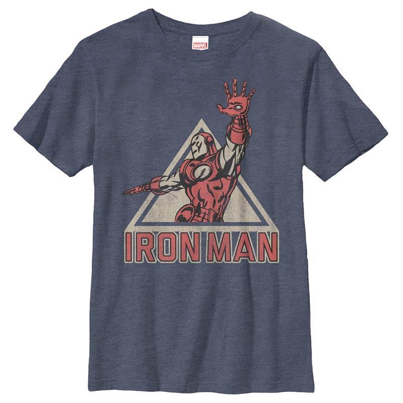 Iron Man Power Blue Youth T-Shirt