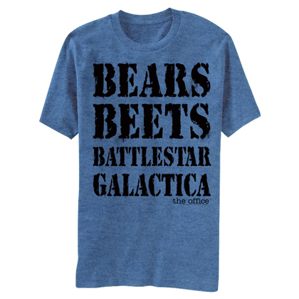 The Office Bears Beets Battlestar Galactica Tshirt