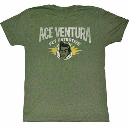 Ace Ventura Ace Mens Green T-Shirt