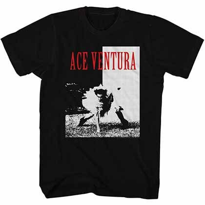 Ace Ventura Ace Mens Black T-Shirt