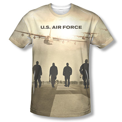 US Air Force Long Walk Sublimation T-Shirt