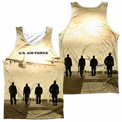 Air Force Long Walk Sublimation Tank Top