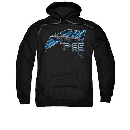 US Air Force F-35 Black Pullover Hoodie