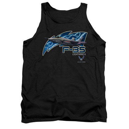 US Air Force F35 Black Mens Tank Top