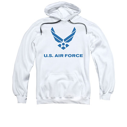 US Air Force Logo White Pullover Hoodie