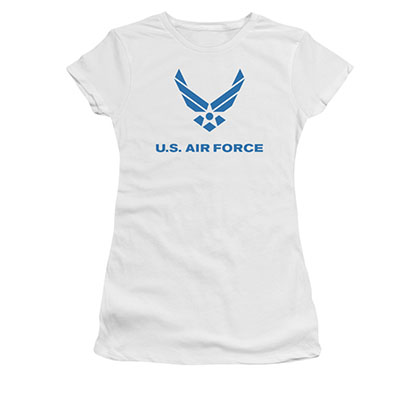 US Air Force Logo White Juniors T-Shirt