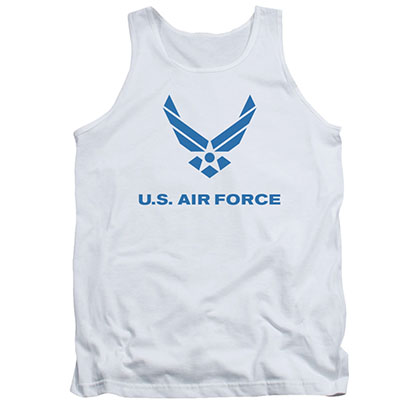 US Air Force Logo White Mens Tank Top