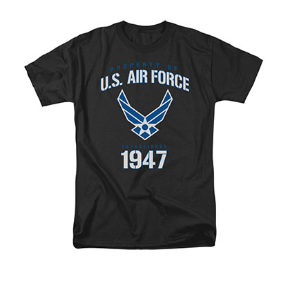 US Air Force Property Of Black T-Shirt