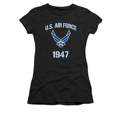 US Air Force Property Of Black Juniors T-Shirt
