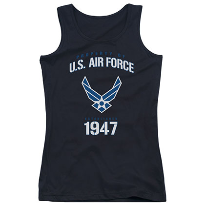 US Air Force Property Black Juniors Tank Top