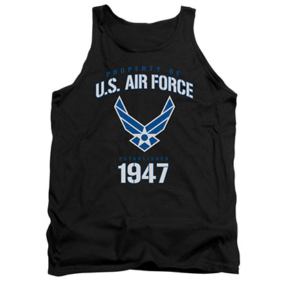 US Air Force Property Black Mens Tank Top